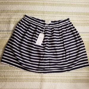 Jack Wills Heli stripe skirt navy stripe